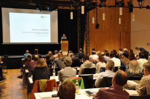 Foto eines Vortrags auf dem Fachkongress der AGÖF im Oktober 2019